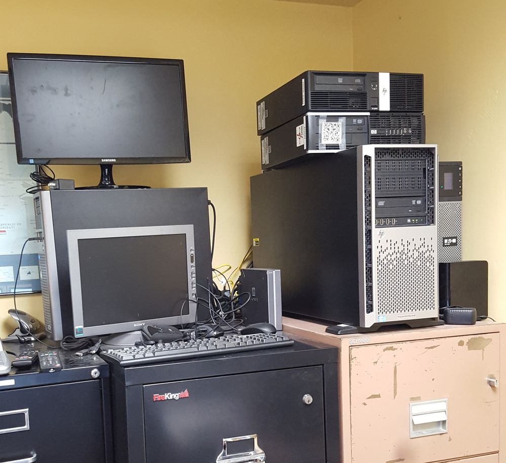 "My Server Room!....Don't these belong in the ""closet"""