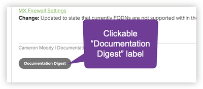 "(1) Scroll up & click ""Documentation Digest"""