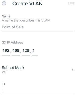 VLAN settings in GX Security Gateway