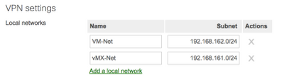 vMX Local Networks