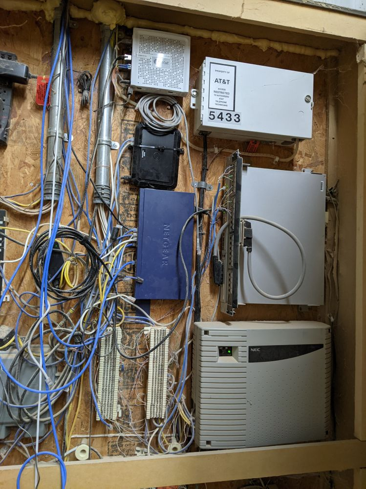 Previous network equipment and phone system