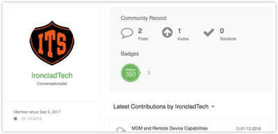 Profile displaying a Meraki360 badge
