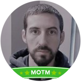 Adam's profile picture with MOTM banner