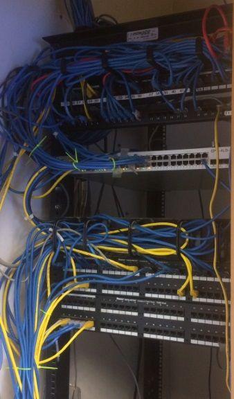 Wiring closet after