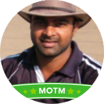 Ajit Kumar's profile picture with MOTM banner