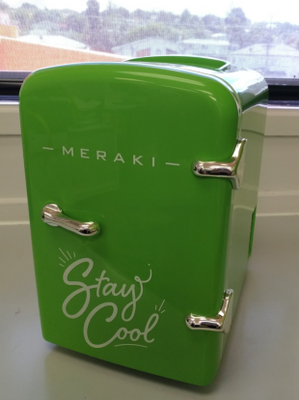 Meraki mini fridge (with car adapter!)