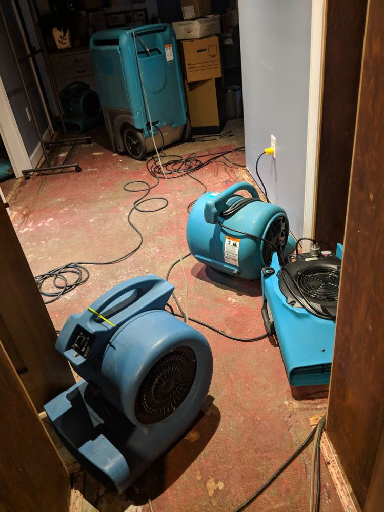 Blowers and giant dehumidifiers