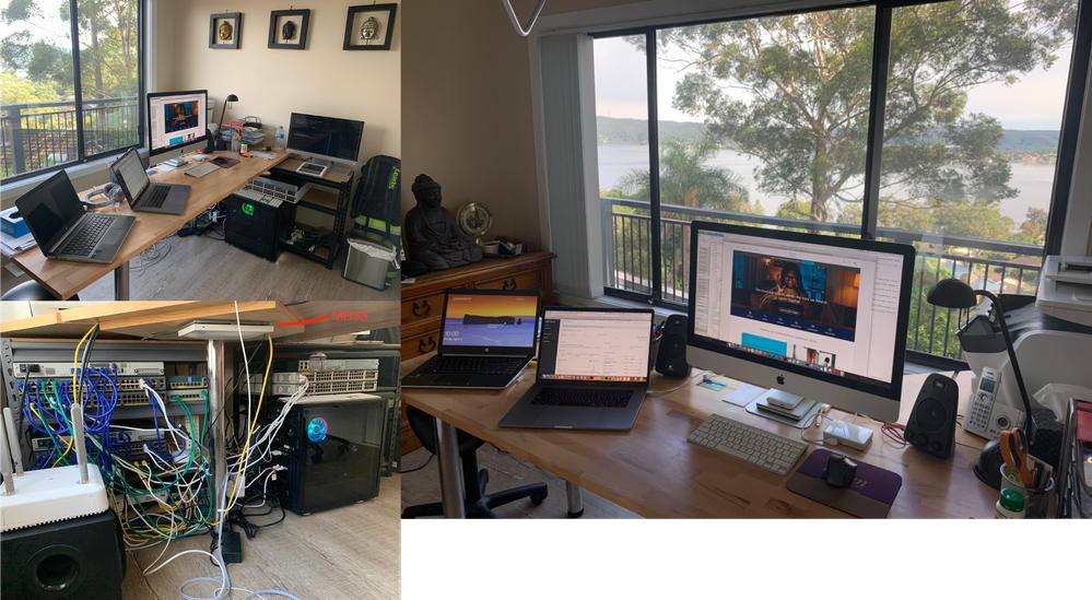Living the Home Office Dream - well connected with Cisco and Meraki kit, all this with a view!