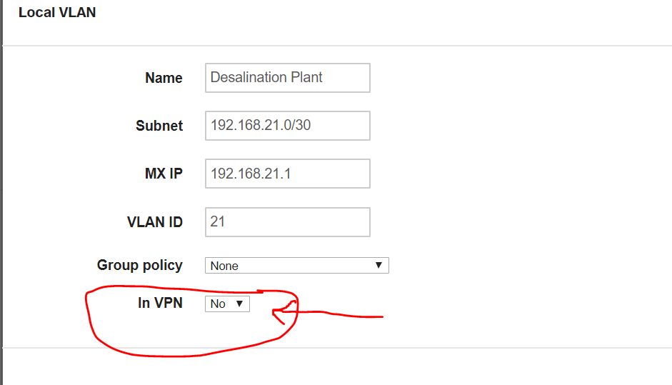Solved What Does In Vpn Mean The Meraki Community