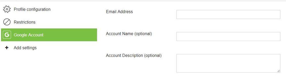 iOS Google Account profile - The Meraki Community