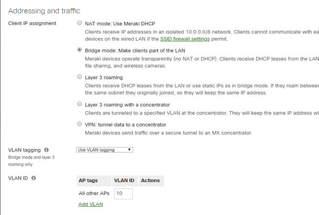 Meraki MR33 Bridge Mode Not Working - The Meraki Community