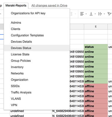 Google Sheets Meraki Reports - Device Status.png