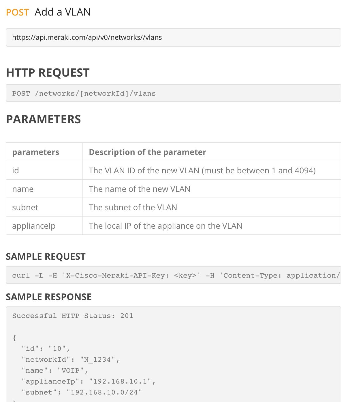 Solved: API Call for MX LAN IP NO VLAN - The Meraki Community