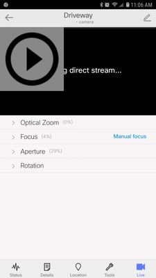 Camera Live View Not Working on Android Meraki App - The