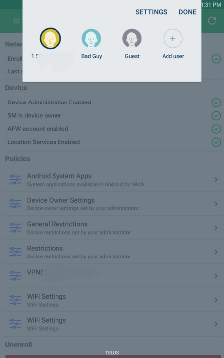 Solved: Restrict/remove additional user profiles on Android tablet