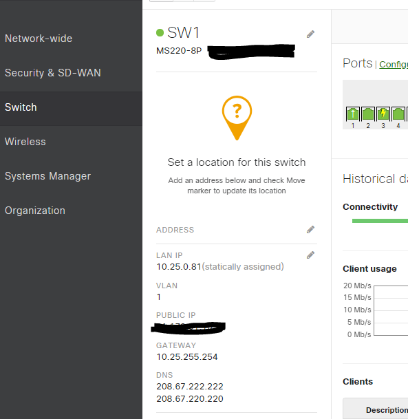 Solved: MS120-8P switch problem - The Meraki Community