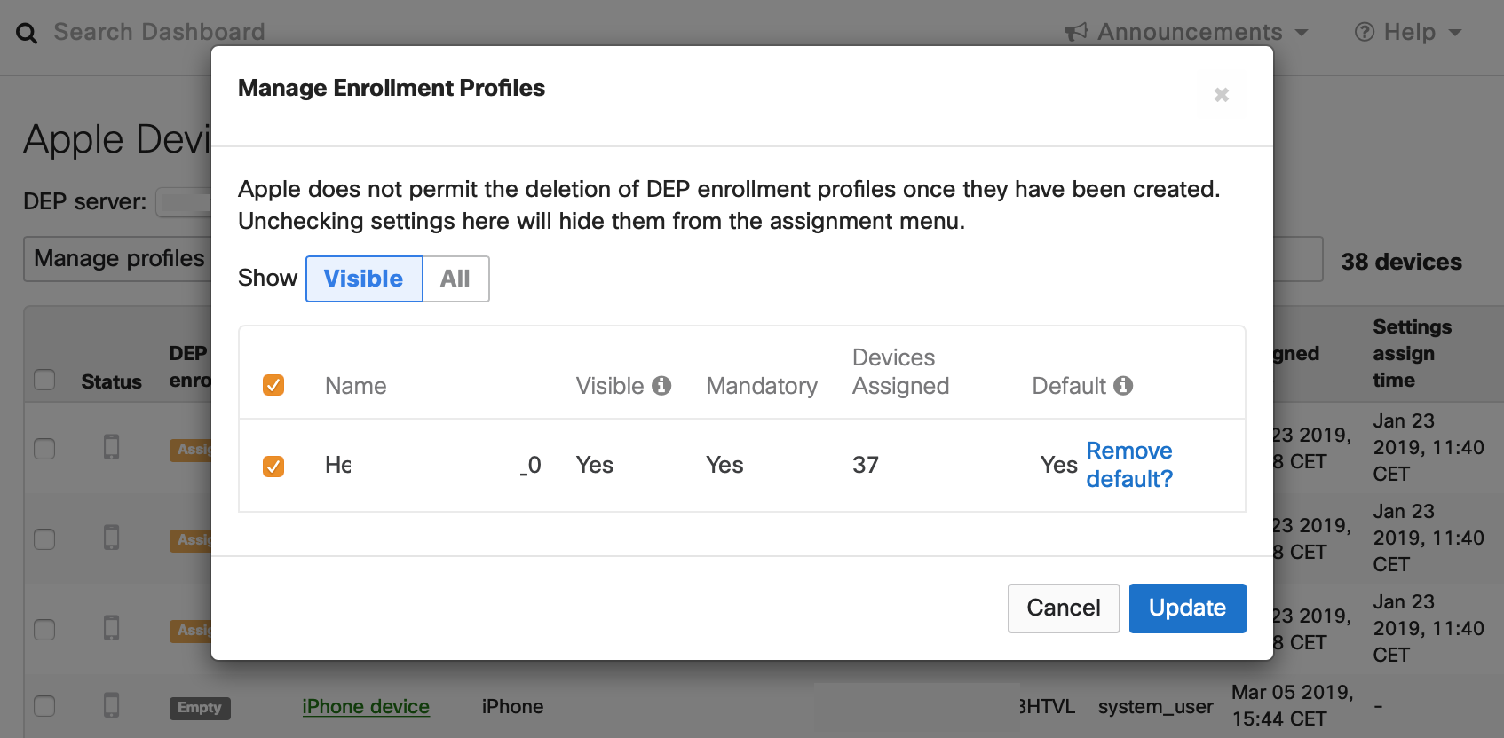 Feature Request: Automatically Assign DEP Settings - The Meraki
