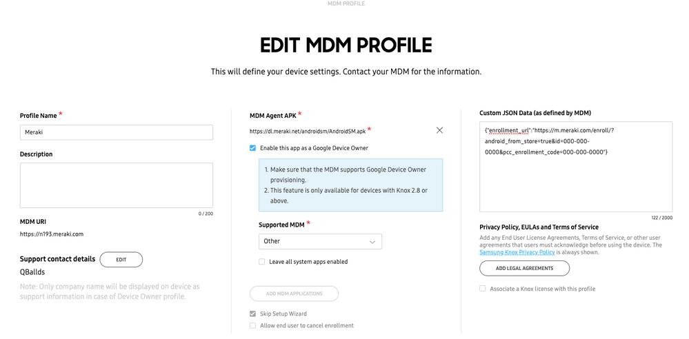 Samsung Knox mobile enrollment - The Meraki Community
