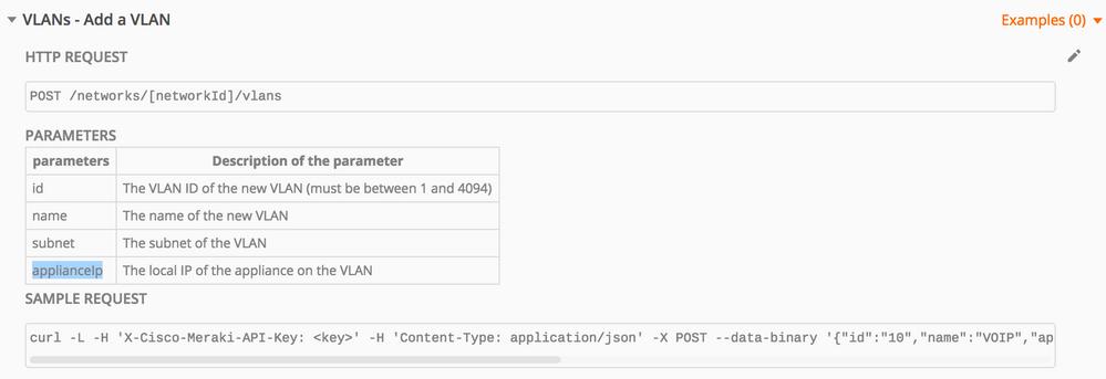 Add Meraki VLAN via API failing - The Meraki Community