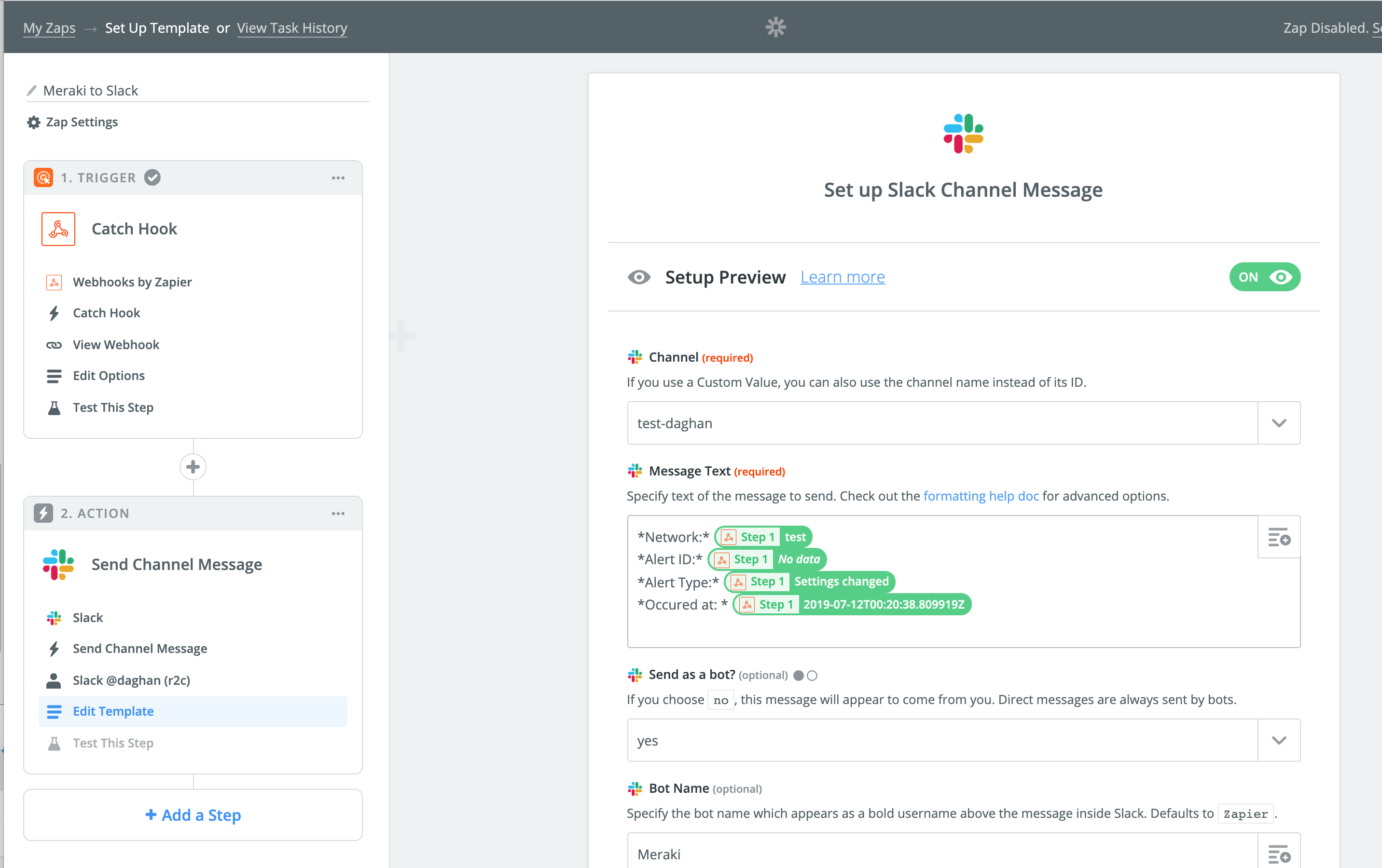 Solved: Webhooks in Slack or Teams    - The Meraki Community